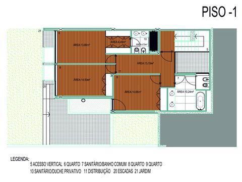半独立式的房子 3个房间