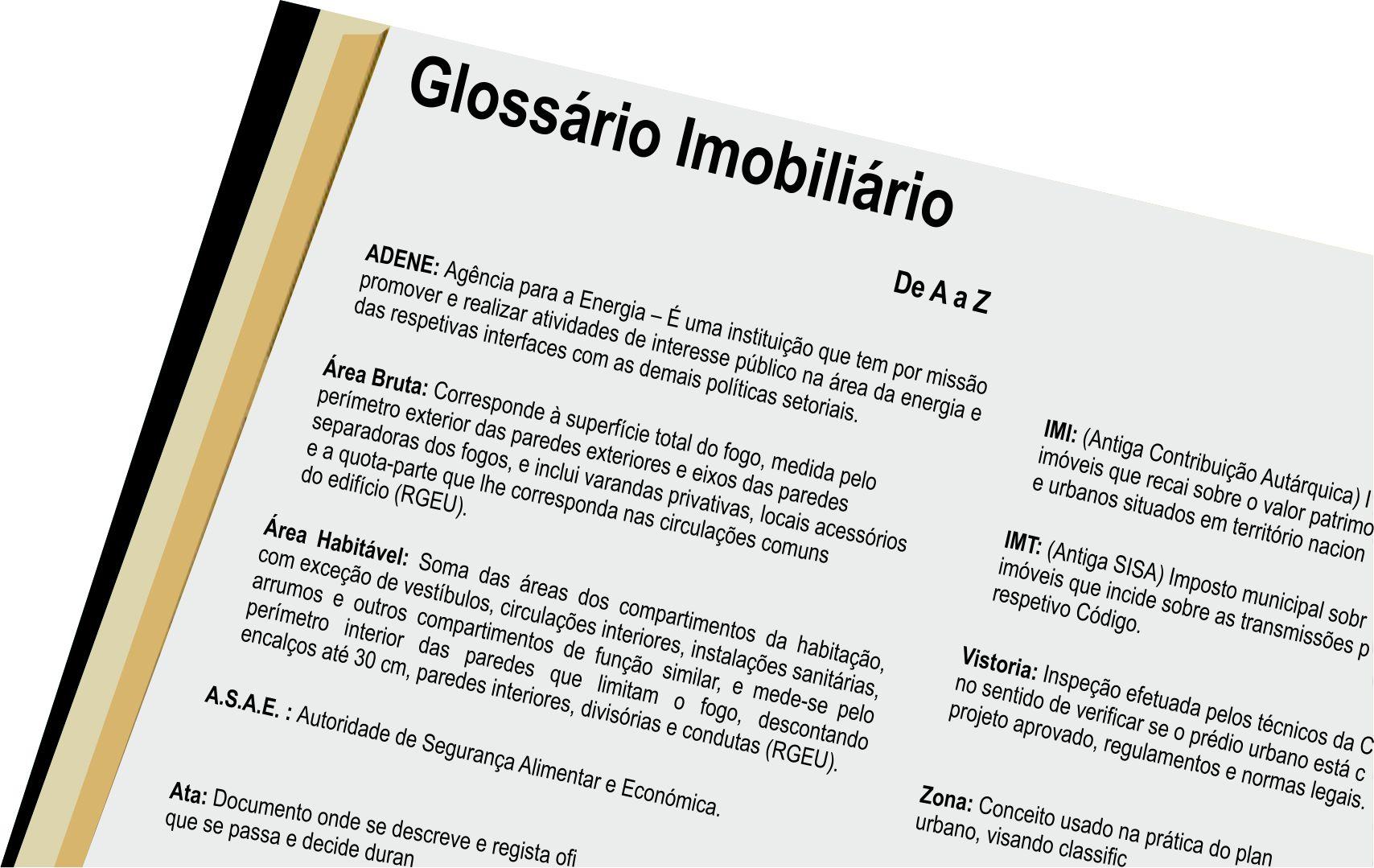 Glossário Imobiliário